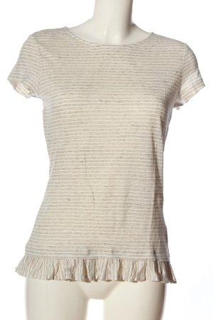 hessnatur Koszulka w paski brązowy-w kolorze białej wełny W stylu casual
