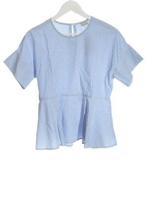 hessnatur Schlupf-Bluse blau-weiß Streifenmuster Casual-Look