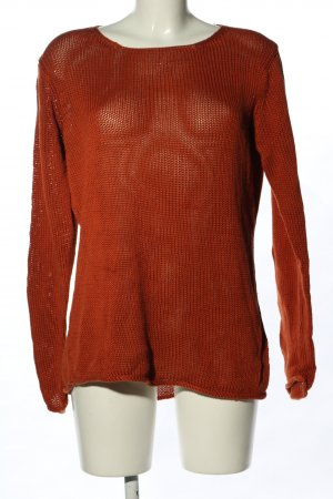 hessnatur Strickpullover rot Webmuster Casual-Look