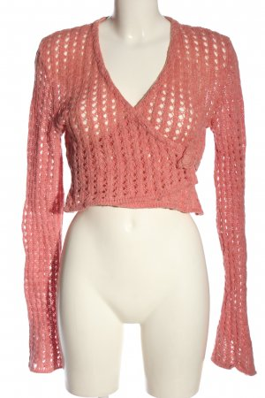 hessnatur Strickwickeljacke pink Casual-Look