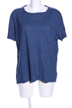 hessnatur T-Shirt blau meliert Casual-Look