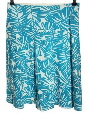 hessnatur Tellerrock blau-weiß Blumenmuster Casual-Look