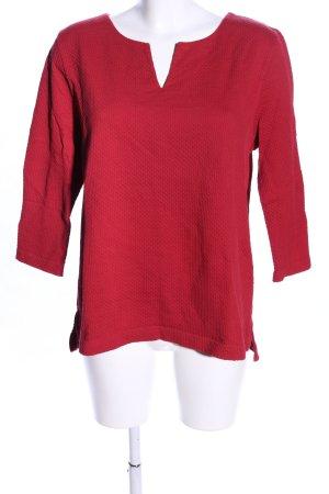 hessnatur V-Ausschnitt-Pullover rot Casual-Look