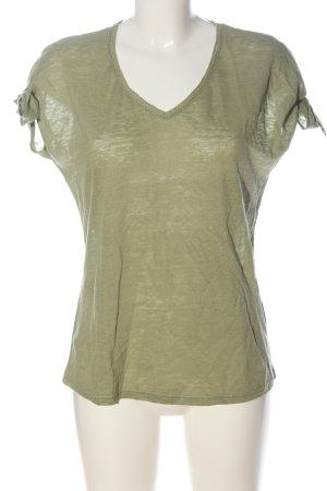 hessnatur V-Ausschnitt-Shirt khaki Casual-Look