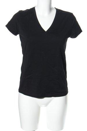 hessnatur V-Neck Shirt black casual look