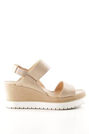 hessnatur Wedges Sandaletten nude-weiß Casual-Look
