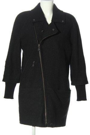 hessnatur Chaqueta de lana negro moteado look casual