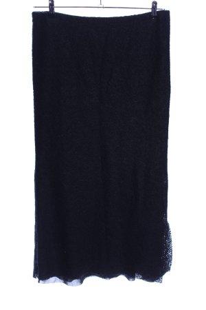 Heteroclite Wollrock schwarz Elegant