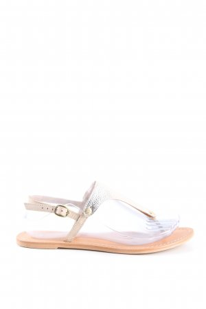 hey marly Toe-Post sandals silver-colored casual look