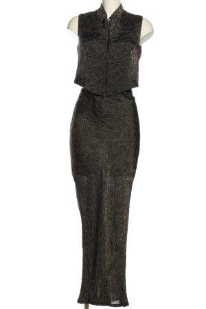 Heymann Damespak zwart gestippeld extravagante stijl