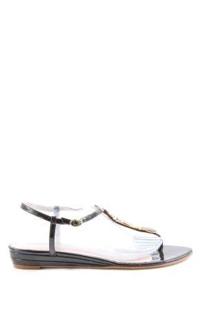 Heyraud Flip flop sandalen zwart casual uitstraling