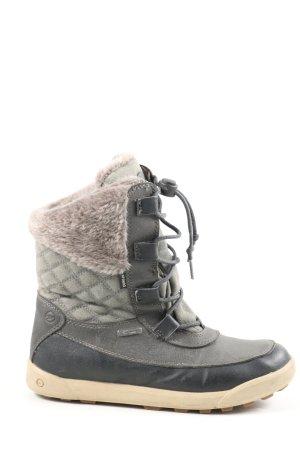 Hi-tec Botas de invierno gris claro estampado acolchado look casual