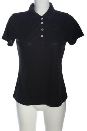 hickory Polo-Shirt schwarz Casual-Look