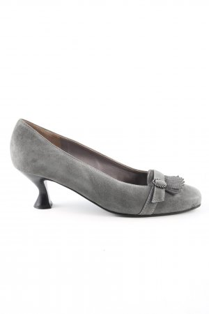 Hiegl Loafers lichtgrijs zakelijke stijl