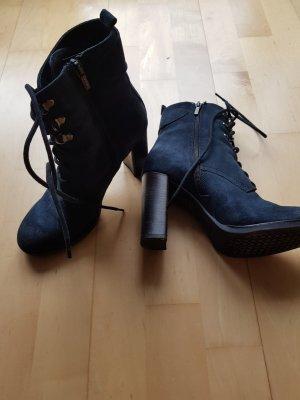 Geox Short Boots dark blue leather