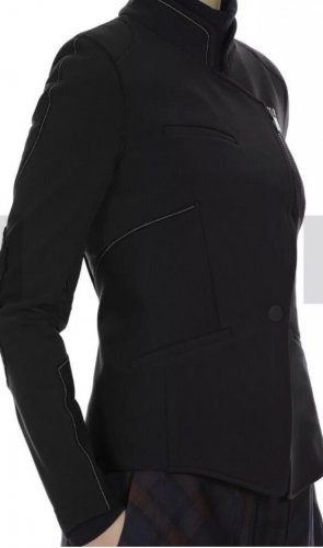 High - Everday Couture by Claire Campbell Blazer in jersey nero