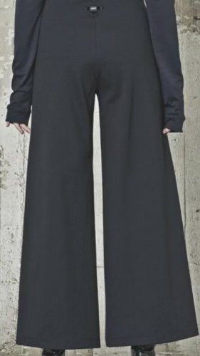 High - Everday Couture by Claire Campbell Pantalone a zampa d'elefante nero
