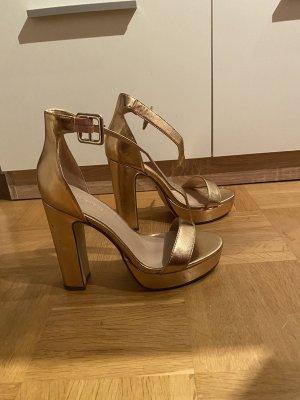 Platform High-Heeled Sandal bronze-colored