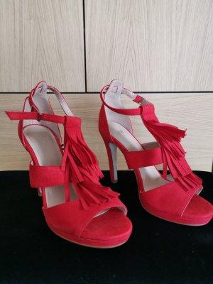 High Heel, Fransen, Rot