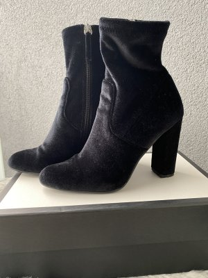 High Heel Samtstifelette