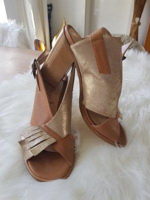 High Heel Sandale, Leder