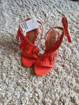 High Heel Sandale orange