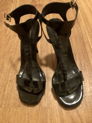 Tommy Hilfiger Toe-Post sandals black leather