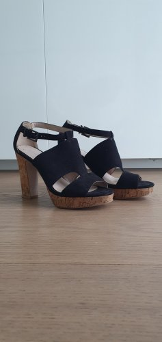 High Heel Sandalen mit Korkabsatz