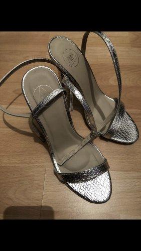 High Heel Sandalen Silber
