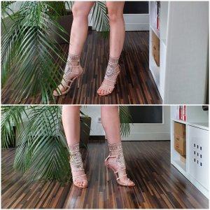 High Heel Sandalette mit Pailletten