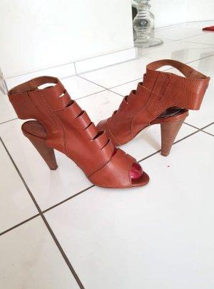 High Heel Sandaletten braun Größe 40