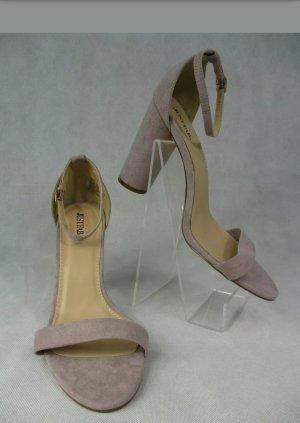 High Heel Sandaletten Flieder 10 cm Absatz neu