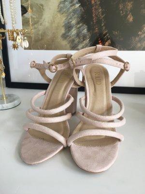 High Heel Sandaletten in rosa / nude