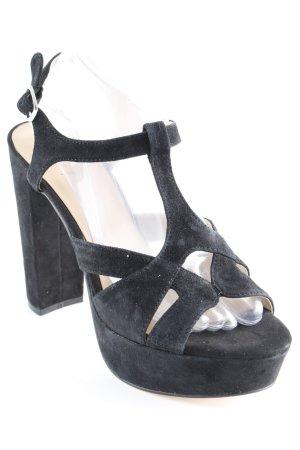 High Heel Sandaletten schwarz-nude Party-Look
