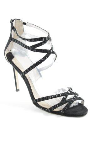 High Heel Sandaletten schwarz Party-Look