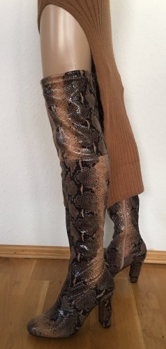 Anna Field Laarzen met hoge hakken grijs-bruin-zwart bruin