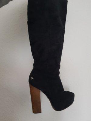 Platform Boots black-brown