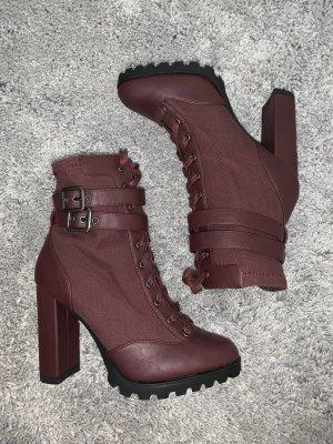 High Heel Boots bordeaux-blackberry-red