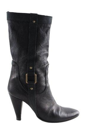 High Heel Stiefel schwarz Business-Look