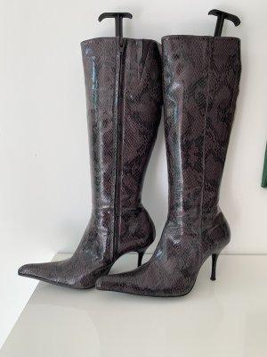 Apart Impressions Laarzen met hoge hakken donkerpaars-zwart