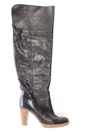 Botas de tacón alto negro Cuero