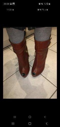 Giuseppe Zanotti Peep Toe Booties brown-cognac-coloured