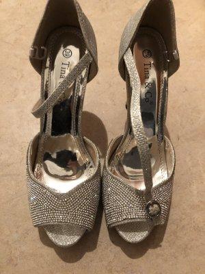 Tina&Co. Hoge hakken zilver
