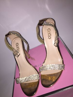 0039 Italy High Heel Sandal gold-colored-silver-colored