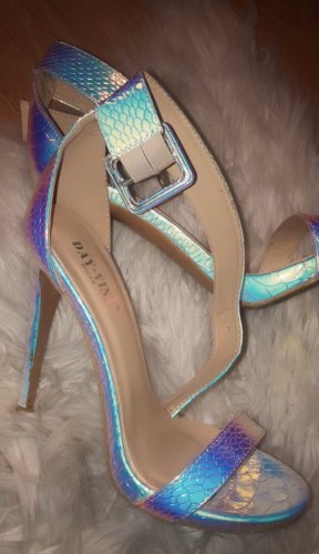 Miss Moda High Heel Sandal baby blue-pink
