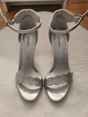 Catwalk Hoge hakken zilver