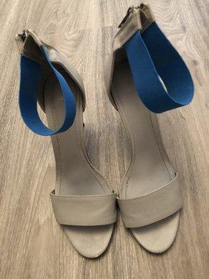 H&M Sandaletto con tacco alto blu-grigio chiaro