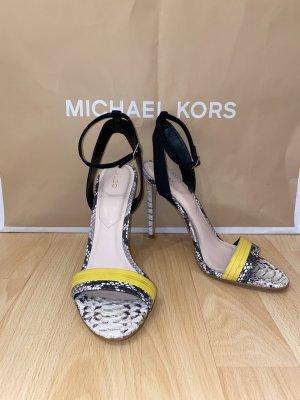 Aldo Hoge hakken sandalen zwart-geel
