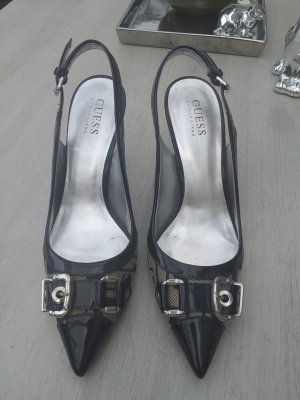 Guess Slingback Pumps black-silver-colored