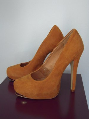 Alisha High Heels dark orange leather